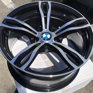 """Brand new 18"""" Staggered +35 polished black BMW style wheels 5x120 all 4 PRICE IS FIRM for Sale in West Covina, CA"""