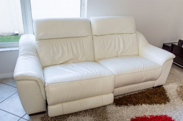 White reclining couch