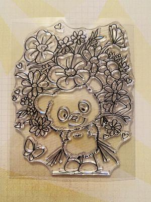 Bear & Flowers Stamp for Sale in Elizabethton, TN
