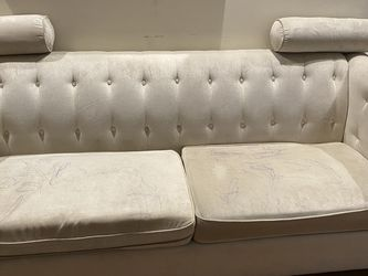 Ivory Suede Couch for Sale in Brooklyn,  NY