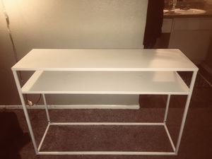 White metal console table/desk for Sale in Austin, TX