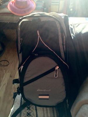Eddie Bauer hike backpack with straw for drinking water in backpack for Sale in Reston, VA