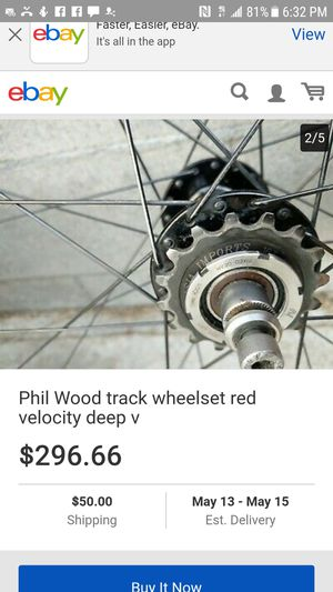 phil woods wheelset. velocity Deep V for Sale in Troutdale, OR