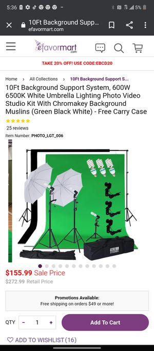 Photo video Studio kit for Sale in Bakersfield, CA