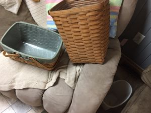 Longaberger Baskets Authentic $50 for both for Sale in Parkville, MD