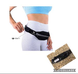 Running Belt with Personal Alarm for Runners Safety Including Flexible and Stretchy Waist Pack for iPhone/ Smartphone, Keys and Belongings (Patent Pe for Sale in Azusa, CA