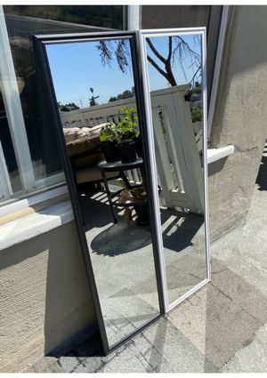 """Black or white mirror 49.5"""" x 13.5"""" Can deliver San Diego county $5-$10 for Sale in San Diego, CA"""