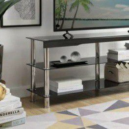 "Hakea Black Glass-Top 62"" TV Stand for Sale in Houston, TX"
