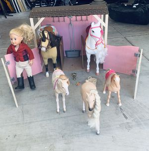 American Girl Doll/ Our Generation Doll Stable and Horses for Sale in Phoenix, AZ