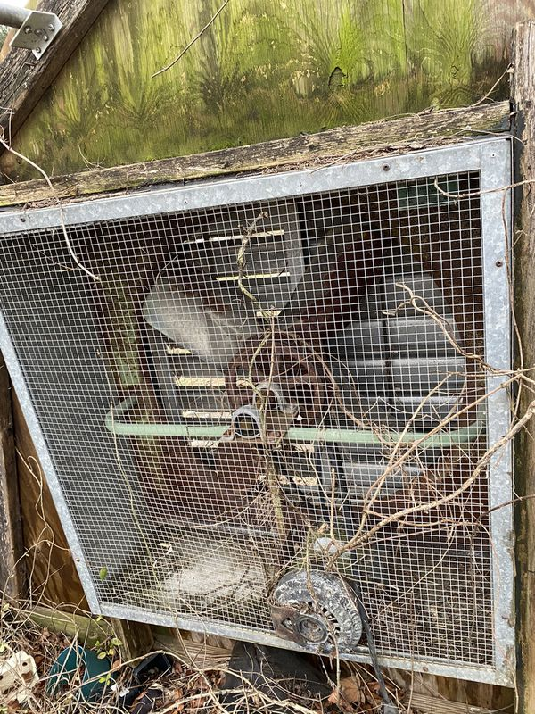 Greenhouse frame, vent, and fan