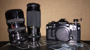 Canon a1 film camera. Soligor lenses for Sale in Elk Grove, CA