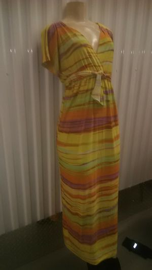Multicolored colorful dress size medium large for Sale in Takoma Park, MD