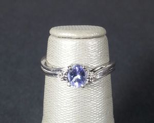 Tanzanite 10kt White Gold Ring Size 4 1/2 for Sale in St. Petersburg, FL