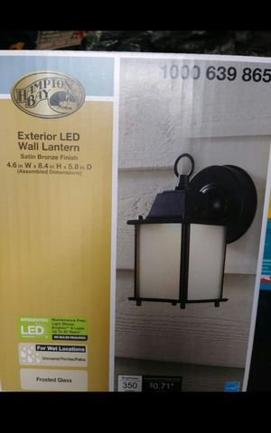 HAMPTON BAY EXTERIOR LED WALL LANTERN BRAND NEW for Sale in Colton, CA