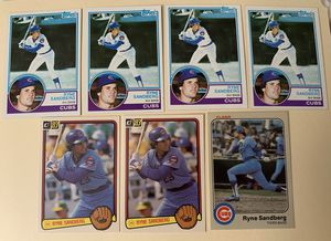 7 RYNE SANDBERG 1983 TOPPS FLEER DONRUSS Baseball Cards All Rookie Chicago Cubs Nice for Sale in Brea, CA
