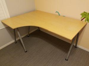 Adjustable height ikea corner desk for Sale in Chandler, AZ