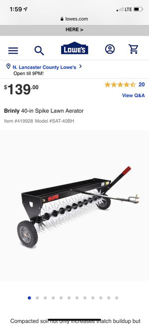 New in box spike lawn aerator towable for Sale in Unionville, NC