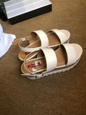 White platforms. Worn once. 9.5/10 $15 for Sale in Los Angeles, CA