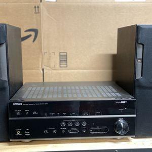 Yamaha AV Receiver, 2 JBL Speakers for Sale in Saratoga, CA