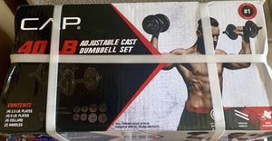 40 LB Dumbbell Weight Set Adjustable Cast for Sale in Murrieta, CA