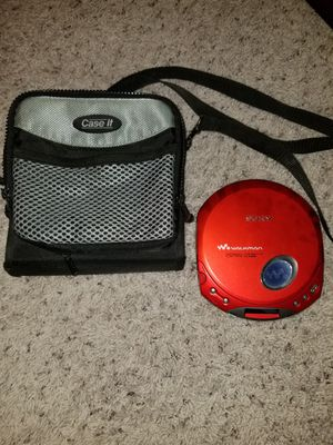 Sony Walkman CD player. D-E350 with carry case for Sale in El Paso, TX