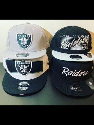 Raiders hat $25 each for Sale in Hesperia, CA
