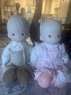 Precious moments dolls 17 inches the head and hands are porcelain w/original boxes for Sale in Anaheim, CA