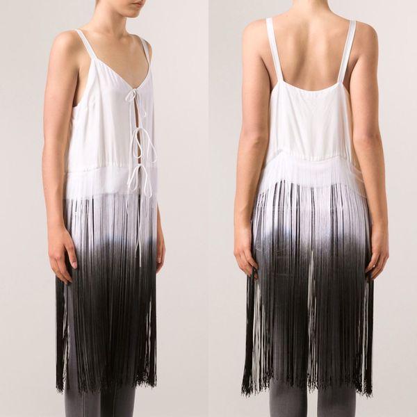 Raquel Allegra silk fringe camisole size 0 XS