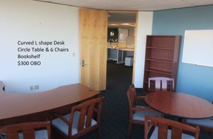 Desk, Bookshelves, Chairs And Tables For Sale for Sale in Seattle, WA