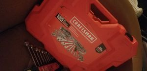 135 peices craftsman tool set with a set of wrenches for Sale in Columbus, OH