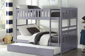 T💯🆕Best Price$Orion Gray Full/Full Bunk Bed for Sale in Columbia, MD