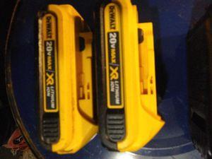 Dewalt 20v xrp batterys for Sale in Winfield, WV