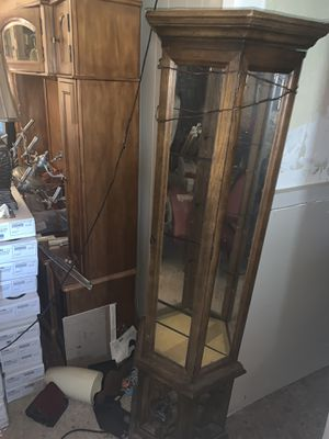 Curio Glass Corner Cabinet for Sale in Troutville, VA