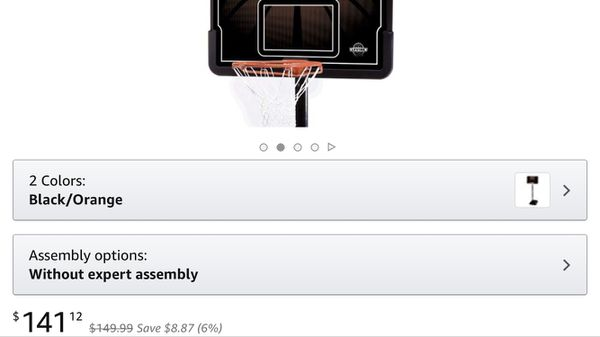Adjustable basketball hoop