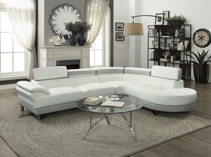 Brand New! White & Gray Leather Luxury Sectional for Sale in Orlando, FL
