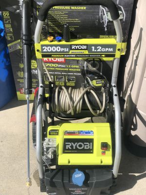 RYOBI 2,000 PSI 1.2 GPM Electric Pressure Washer for Sale in Paramount, CA