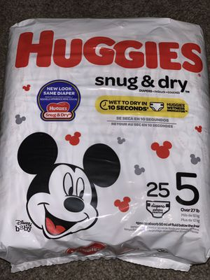 Huggies size 5 for Sale in Chicago, IL