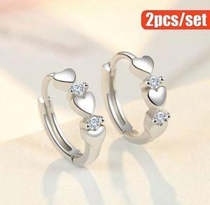 1Pair 925 Sterling Silver Crystal Diamond Gems Hoop Huggie Earring Women Jewlery for Sale in Brookshire, TX
