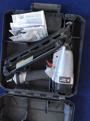 Porter cable angled finish nail gun. 16ga for Sale in Ridgefield, NJ