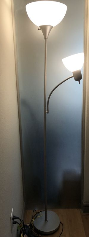 Silver floor lamp with reading light for Sale in Austin, TX