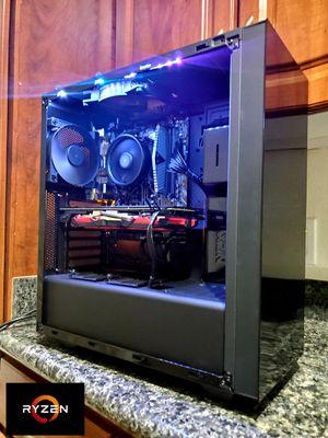 New built custom gaming pc ryzen 5 2600  RX 580 8GB  8GB DDR4  240GB SSD 500GB HDD for Sale in Gilbert, AZ