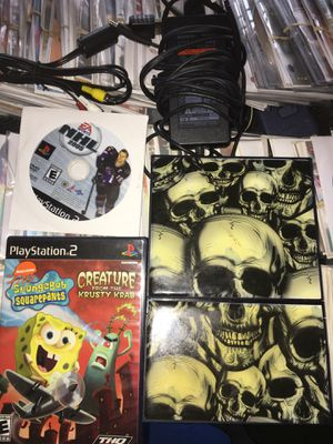 Ps2 with two games no controllers for Sale in Waterbury, CT