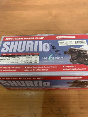 Shur Flo fresh water pump for RV for Sale in Anaheim, CA