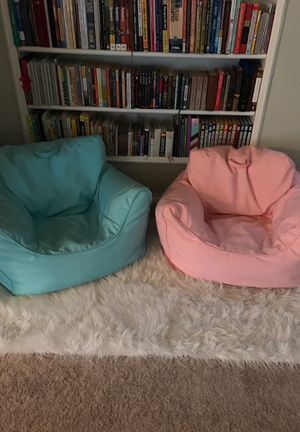 2 for $25 kids bean bag chairs for Sale in Fullerton, CA