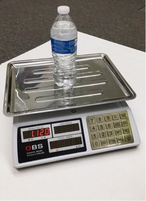 New in box 88lbs 40kg capacity 0.005lbs division accuracy market price conputing produce scale with rechargeable battery use wire or wirelessly for Sale in La Mirada, CA