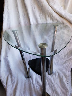 2 glass end tables for Sale in Cutler, CA