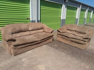 Couch and loveseat (no legs) for Sale in Sun City, TX