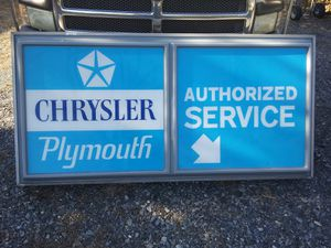 Chrysler plymouth authorized service sign for Sale in Macungie, PA