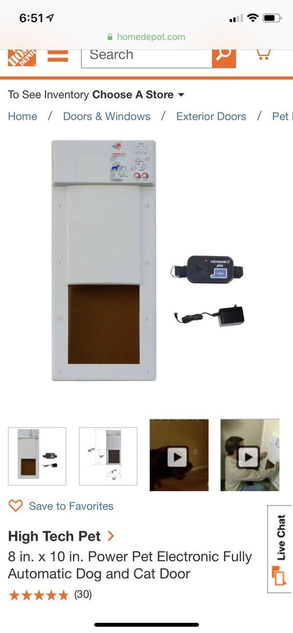 High Tech electronic pet door