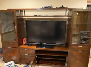 Solid wood Tv console from Macy's for Sale in Saint Paul, MN